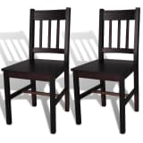 vidaXL Dining Chairs 2 pcs Wood Brown