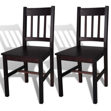 vidaXL Dining Chairs 2 pcs Wood Brown[1/5]