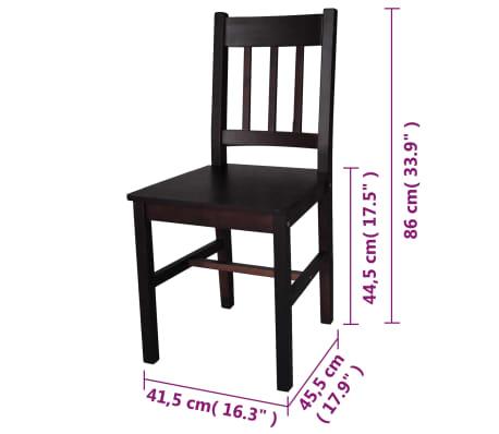 vidaXL Dining Chairs 2 pcs Wood Brown[5/5]