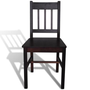 vidaXL Dining Chairs 2 pcs Wood Brown[3/5]