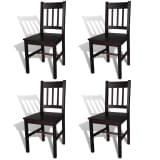 vidaXL Dining Chairs 4 pcs Wood Brown