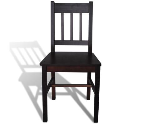 vidaXL Dining Chairs 4 pcs Wood Brown[3/5]