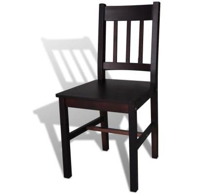 vidaXL Dining Chairs 4 pcs Wood Brown[4/5]