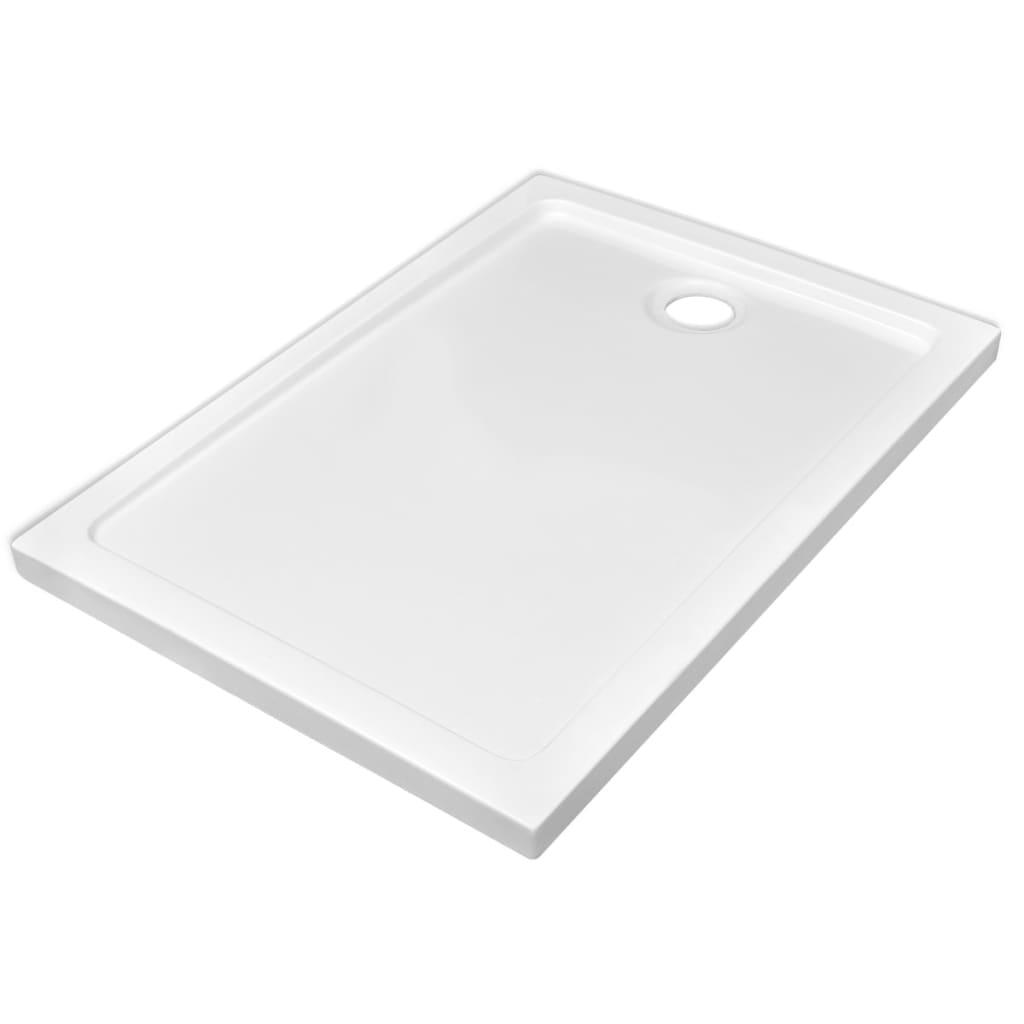 vidaXL Βάση Ντουζιέρας Ορθογώνια Λευκή 70 x 100 εκ. από ABS