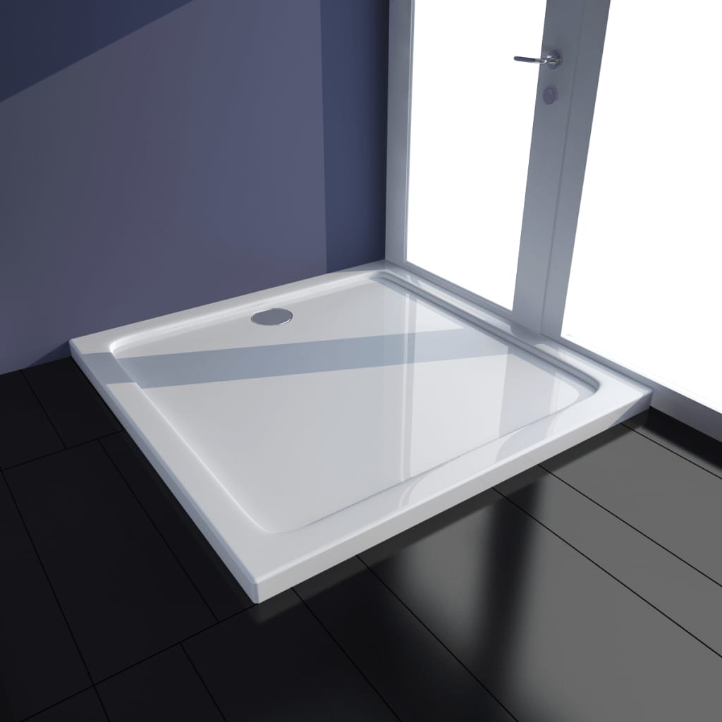 vidaXL Cădiță de duș dreptunghiulară din ABS, alb, 70 x 100 cm poza 2021 vidaXL