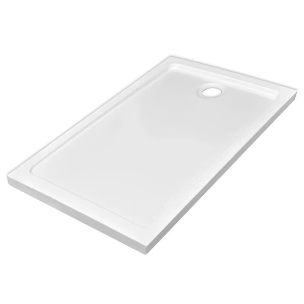 Βάση Ντουζιέρας Ορθογώνια Λευκή 70 x 120 εκ. από ABS