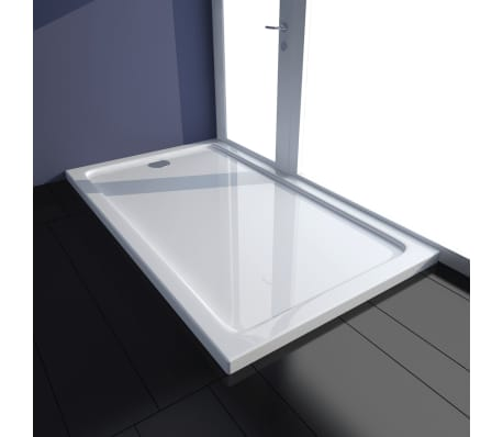 vidaXL Rectangular ABS Shower Base Tray White 70 x 120 cm[1/8]