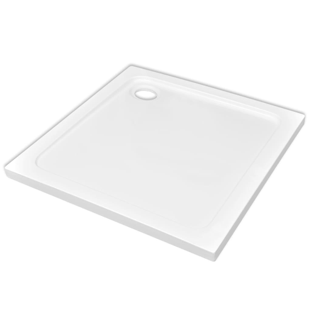 Βάση Ντουζιέρας Τετράγωνη Λευκή 80 x 80 εκ. από ABS