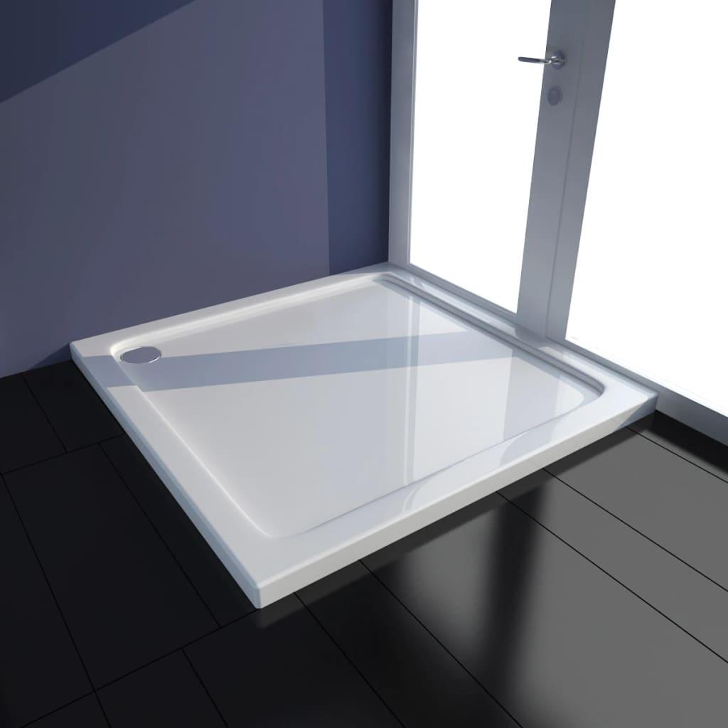Čtvercová ABS sprchová vanička bílá 80 x 80 cm