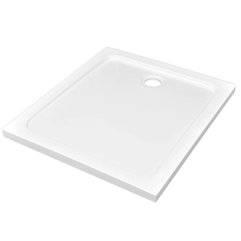 Βάση Ντουζιέρας Ορθογώνια Λευκή 80 x 90 εκ. από ABS
