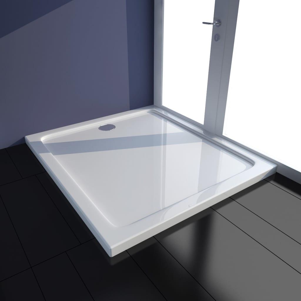 vidaXL Cădiță de duș dreptunghiulară din ABS, alb, 80 x 90 cm poza 2021 vidaXL