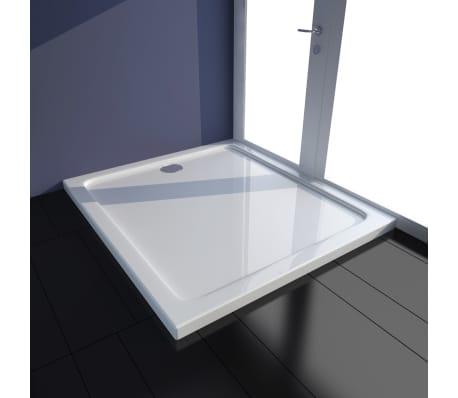 vidaXL Dušo padėklas, baltas, stačiak., ABS, 80 x 90 cm[1/8]