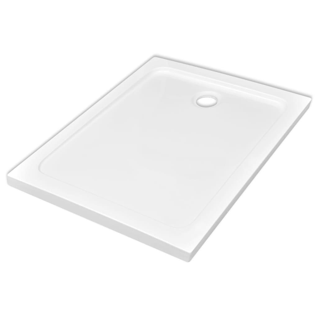 vidaXL Βάση Ντουζιέρας Ορθογώνια Λευκή 80 x 110 εκ. από ABS