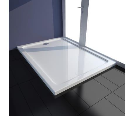 vidaXL Plato de ducha rectangular de ABS blanco 80x110 cm[1/8]