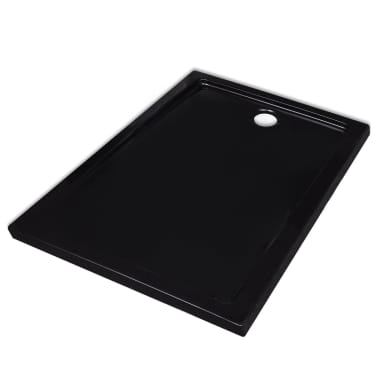 vidaXL Dušo pagrindas, juodas, ABS, stačiakamp., 70x90cm[2/8]