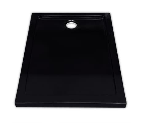 vidaXL Dušo pagrindas, juodas, ABS, stačiakamp., 70x90cm[3/8]