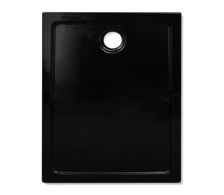 vidaXL Dušo pagrindas, juodas, ABS, stačiakamp., 70x90cm[4/8]