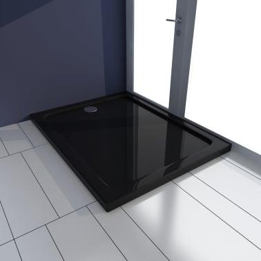 vidaXL Dušo pagrindas, juodas, ABS, stačiakamp., 70x90cm[1/8]