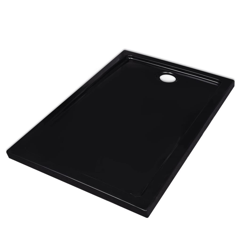Βάση Ντουζιέρας Ορθογώνια Μαύρη 70 x 100 εκ. από ABS