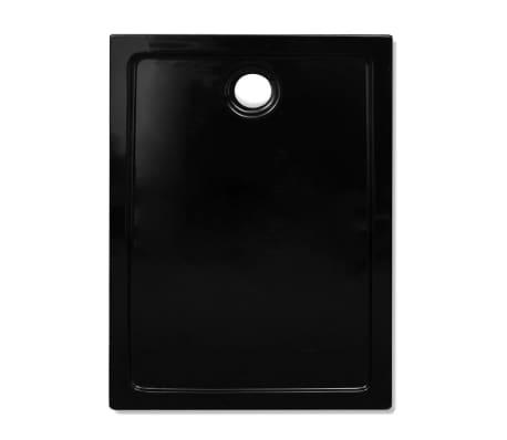vidaXL Dušo pagrindas, juodas, ABS, stačiakamp., 70x100cm[3/8]