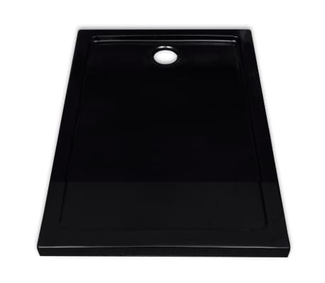 vidaXL Dušo pagrindas, juodas, ABS, stačiakamp., 70x100cm[4/8]
