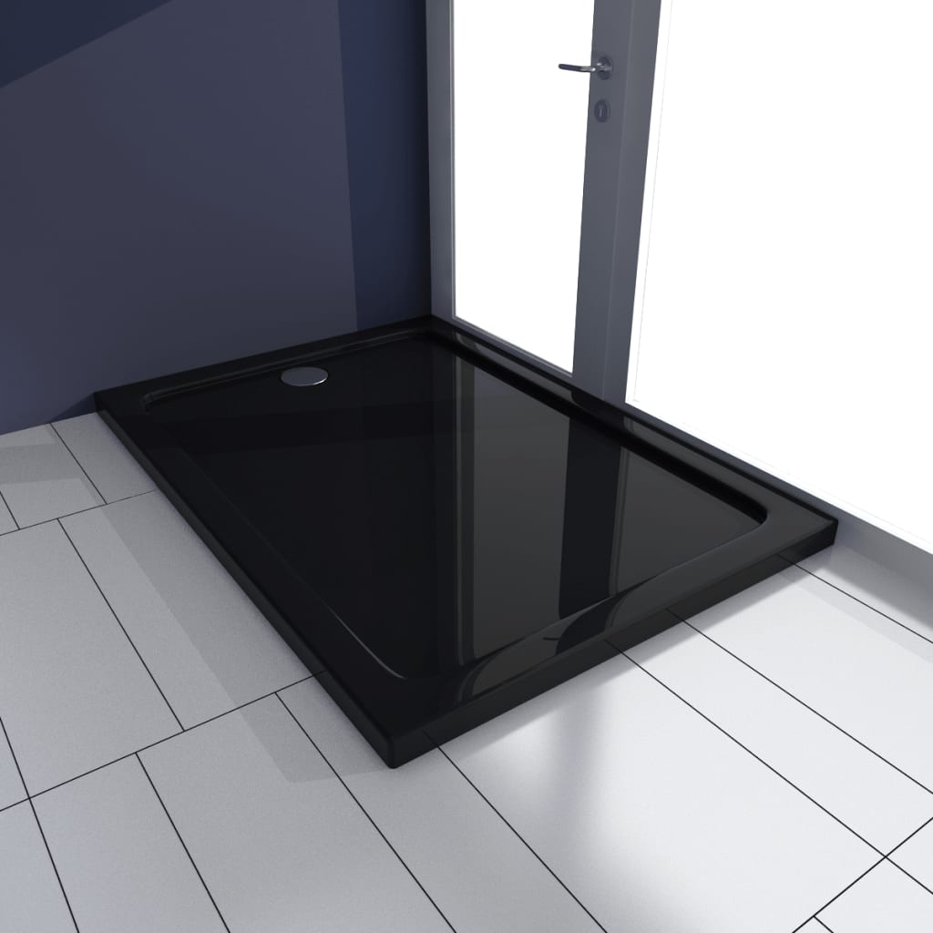 vidaXL Base de chuveiro retangular ABS 70 x 100 cm preto