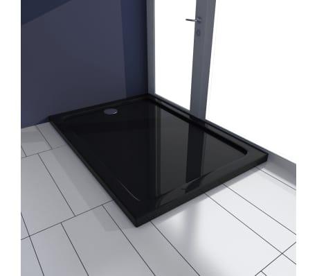 vidaXL Dušo pagrindas, juodas, ABS, stačiakamp., 70x100cm[1/8]