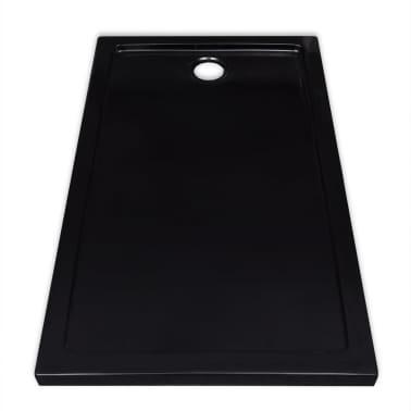 vidaXL Dušo pagrindas, juodas, ABS, stačiakampis, 70x120cm[4/8]