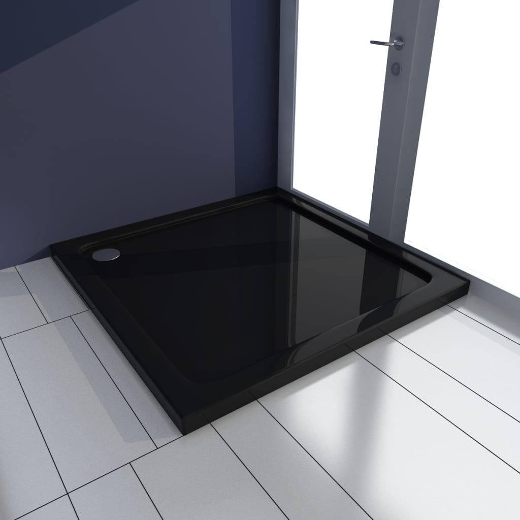 vidaXL Βάση Ντουζιέρας Τετράγωνη Μαύρη 80 x 80 εκ. από ABS