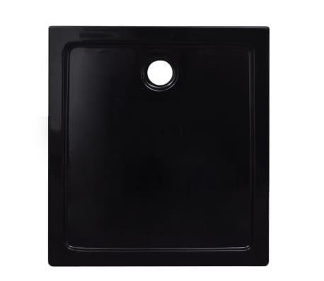 vidaXL Dušo pagrindas, juodas, ABS, stačiakampis, 80x90cm[3/8]