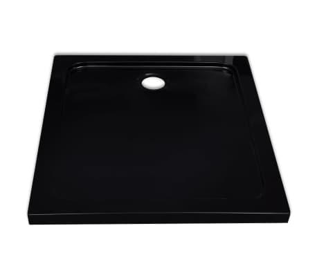 vidaXL Dušo pagrindas, juodas, ABS, stačiakampis, 80x90cm[4/8]