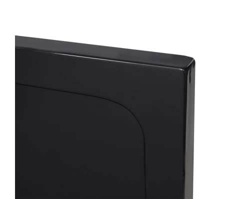 vidaXL Dušo pagrindas, juodas, ABS, stačiakampis, 80x90cm[5/8]