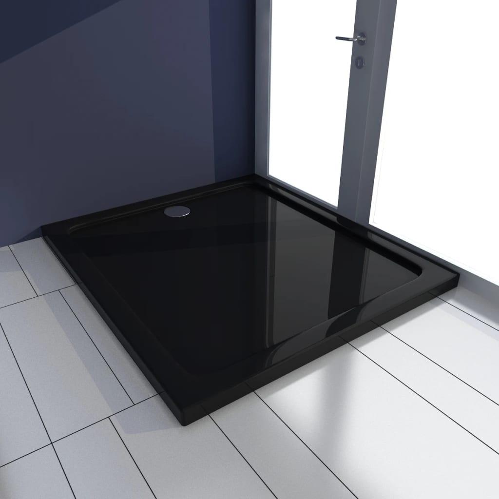 vidaXL Cădiță de duș dreptunghiulară din ABS, negru, 80 x 90 cm poza 2021 vidaXL