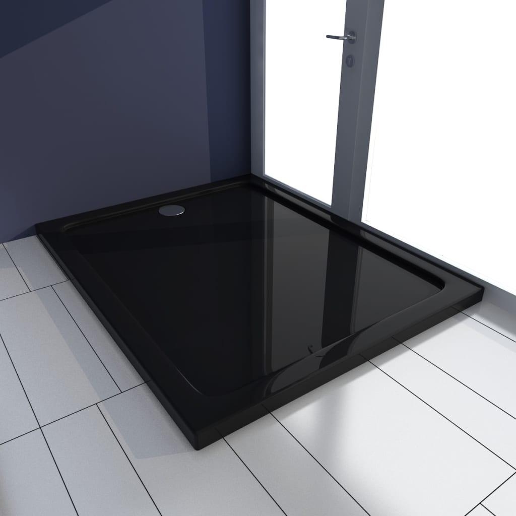 vidaXL Βάση Ντουζιέρας Ορθογώνια Μαύρη 80 x 100 εκ. από ABS
