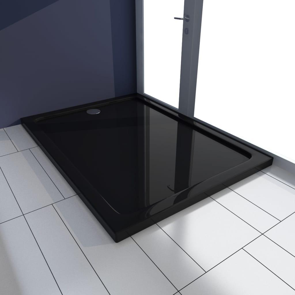 vidaXL Βάση Ντουζιέρας Ορθογώνια Μαύρη 80 x 110 εκ. από ABS