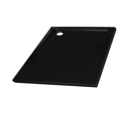vidaXL Square ABS Shower Base Tray Black 90 x 90 cm