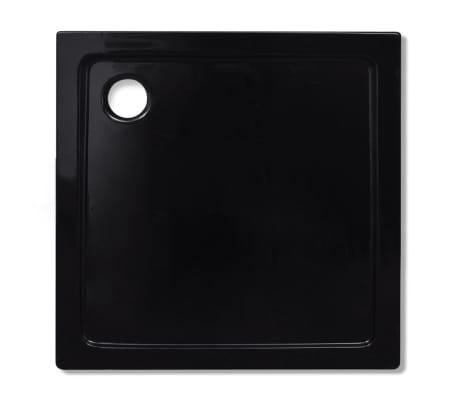 vidaXL Dušo padėklas, juodas, kvadr., ABS, 90 x 90 cm[4/8]
