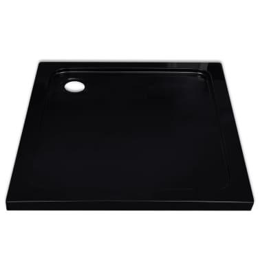 vidaXL Dušo padėklas, juodas, kvadr., ABS, 90 x 90 cm[3/8]