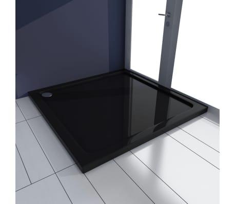 vidaXL Dušo padėklas, juodas, kvadr., ABS, 90 x 90 cm[1/8]