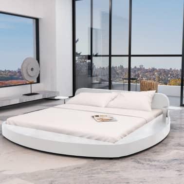 vidaXL Bett mit Matratze Weiß Kunstleder 180×200 cm | vidaXL.de