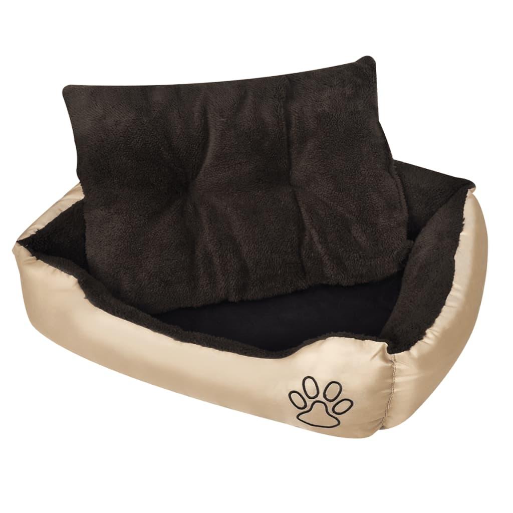 vidaXL Teplý pelíšek pro psy s polstrovaným polštářem M