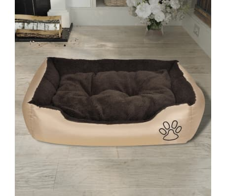 Udobna pasja postelja z mehko blazino L[2/6]