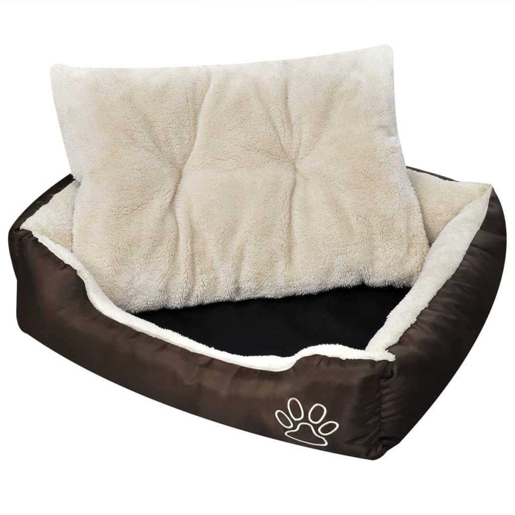 Pătuț pentru câini cu pernă căptușită, M vidaxl.ro