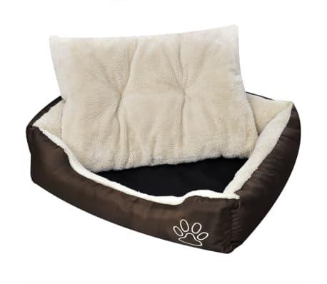 vidaXL Warm Dog Bed with Padded Cushion L
