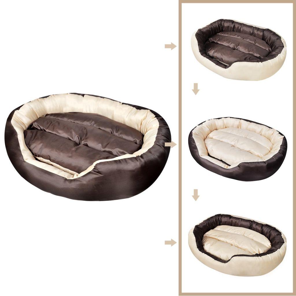 Komfortní pelíšek s polstrovaným polštářem 4 v 1 L