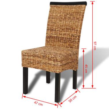 Acheter vidaxl set de 4 chaises en rotin abaca brun - Set de cuisine en rotin ...