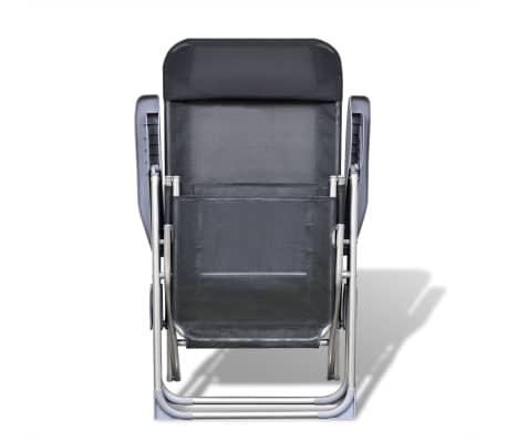 Klappbare einstellbare Campingstühle mit Fußstütze Aluminium 2er-Set[3/6]