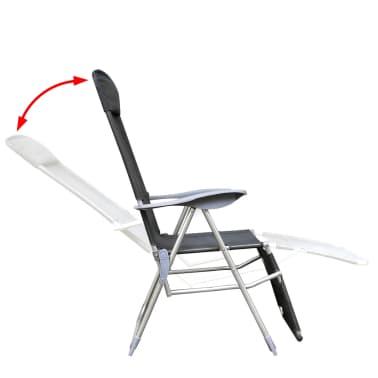 Klappbare einstellbare Campingstühle mit Fußstütze Aluminium 2er-Set[4/6]