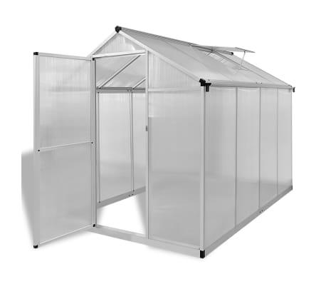vidaXL Serre renforcée en aluminium avec cadre de base 4,6 m²