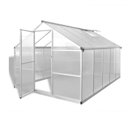 vidaXL Serre renforcée en aluminium avec cadre de base 7,55 m²